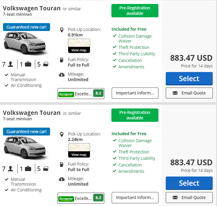 7 seater car hire Basel Airport